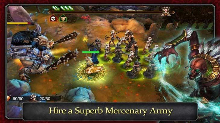 Бесплатная игра Demonrock: War of Ages для Android