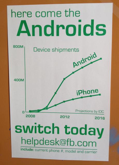 Facebook призывает сменить iPhone на Android
