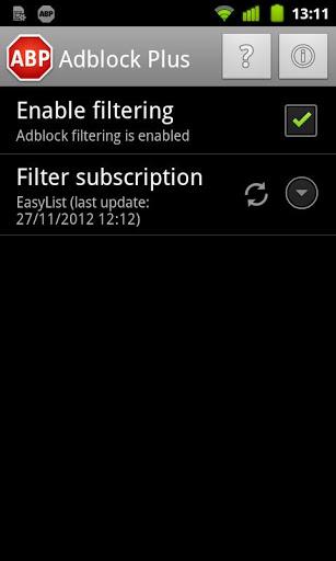 Скачать бесплатно на Android баннерорезку Adblock Plus