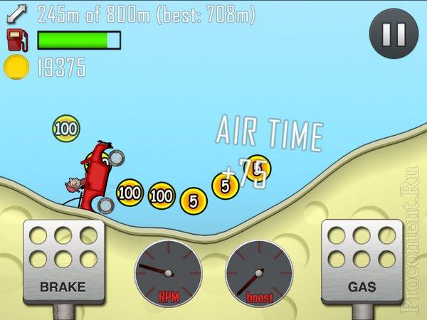 Обзор iPad-игры Hill Climb Racing - бесконечная гонка за монетками