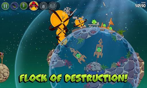 Angry Birds Space для Android получила пакет уровней Pig Dipper