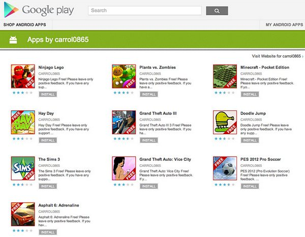 Google Play захлестнули фейковые игры
