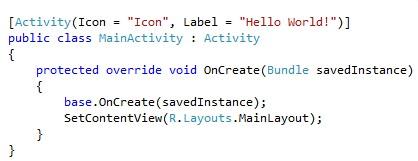 Разработка Android-приложений на C#  в Visual Studio