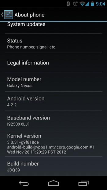 Nexus 10, Nexus 7 и Galaxy Nexus обновляются до Android 4.2.2