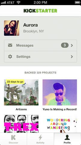 iOS-приложение Kickstarter - краудфандинг на iPhone