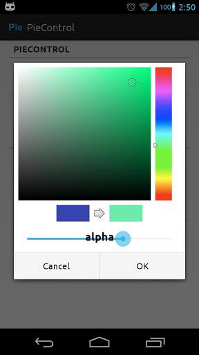 Pie Control - быстрый запуск приложений на Android-смартфоне