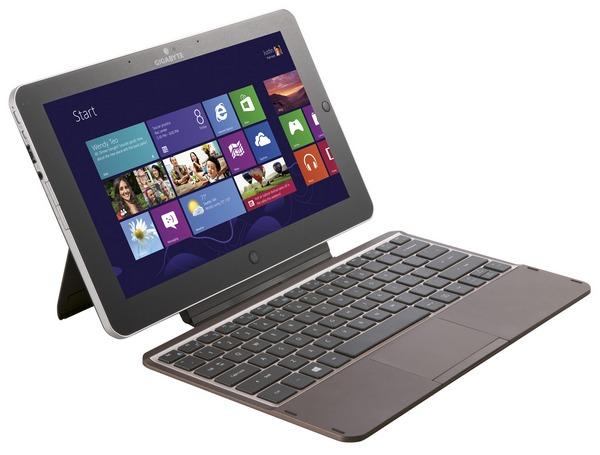 Планшет GIGABYTE Padbook S1185: FullHD-экран, Win8 и клавиатура