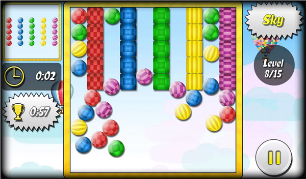 Android-игра Ball Worlds –  манипуляции с шариками на земле, в воде и космосе