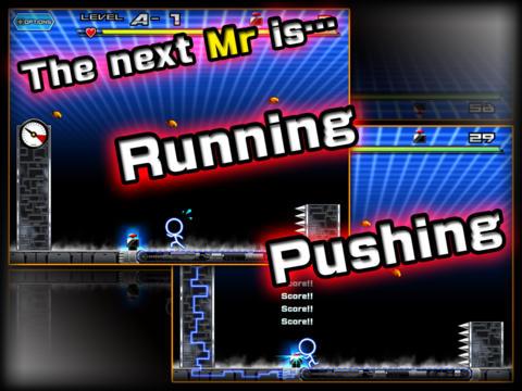 Беговая дорожка смерти в игре Mr.NooO!! для iPhone и iPad