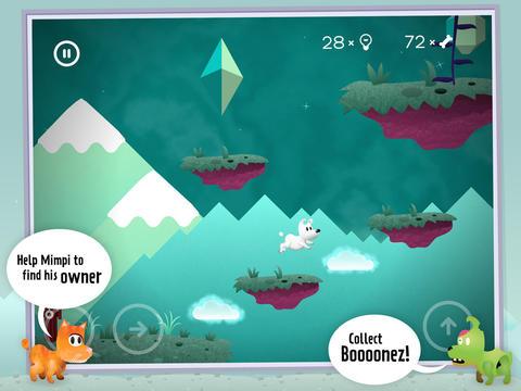 Игра Mimpi для iPhone и iPad - психоделические приключения собачки