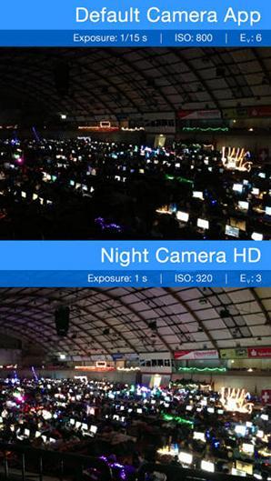 Night Camera HD для iPhone – делаем ночные снимки