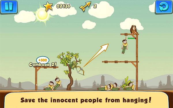 Бесплатная игра Gibbets 2 для Android – лук, стрелы и висельники