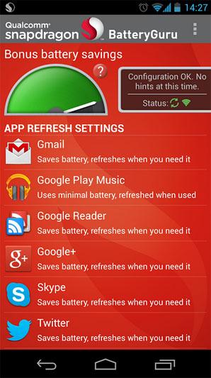 Бесплатное приложение Snapdragon BatteryGuru для Android – экономим заряд аккумулятора