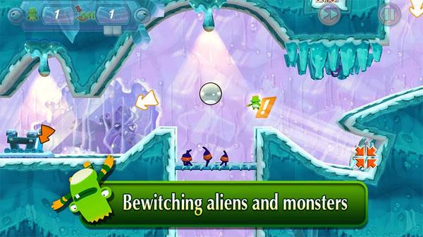 Игра Спаси Пушистиков! для Android – обеспечим безопасность зеленым покорителям планет