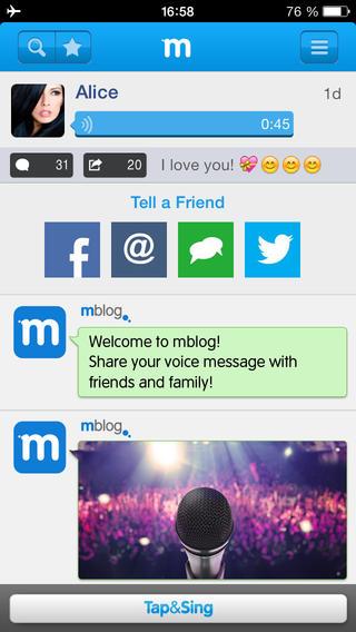 Mblog - ñîöèà ëüíûé äèêòîôî & # xED; äëÿ iPhone è iPad