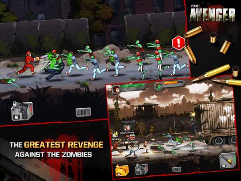 Бесплатная игра Pocket Avenger для iPhone и iPad: сумасшедший отстрел зомби вместе с друзьями