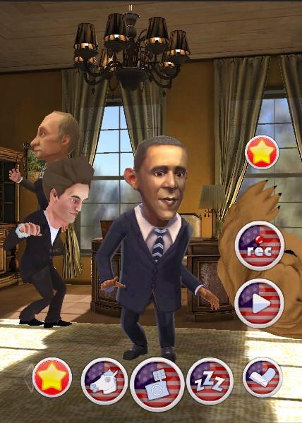 Обзор бесплатного приложения-прикола Обама Говорит! для Android