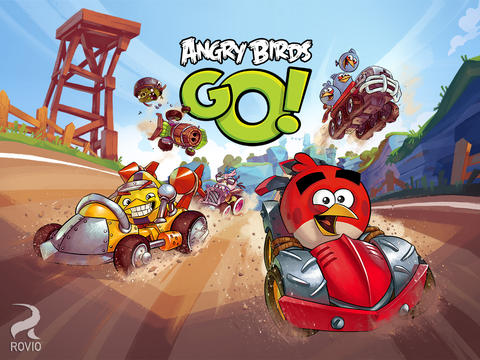 Angry Birds Go! для iPhone и iPad: пташки против свиней на треке
