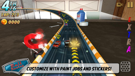 Обзор игры Rail Racing для iPhone и iPad - винтажные гонки на игрушечных машинках