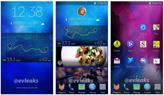 Samsung Galaxy S5: скриншоты интерфейса и домашнего экрана