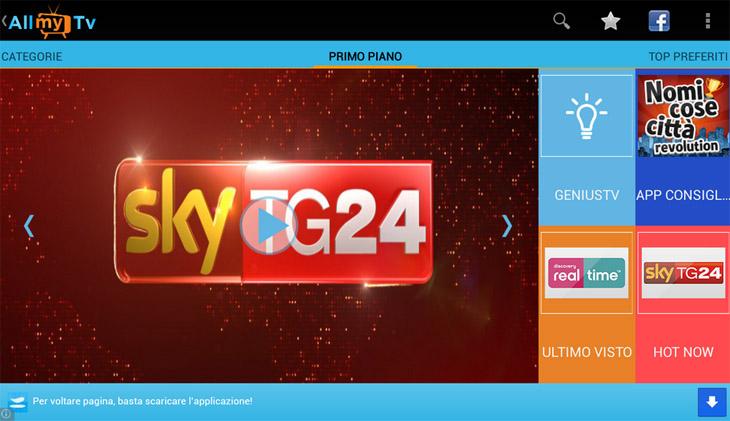 AllMyTv – тысяча телеканалов на вашем Android-смартфоне или планшете