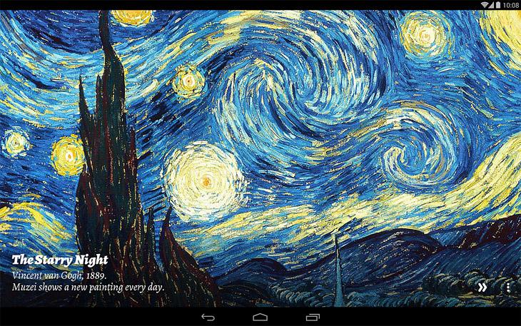 Живые обои Музей для Android - новые шедевры живописи каждый день на вашем экране