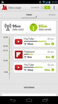 Opera Max - универсальный компрессор данных для Android