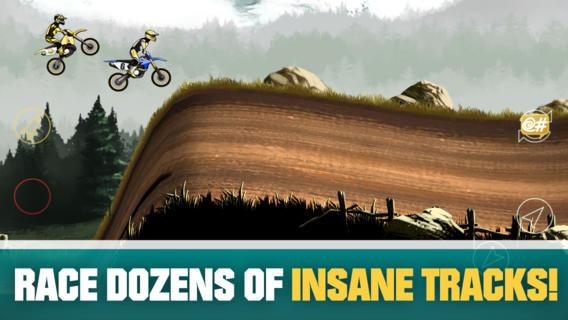 Бесплатная игра Mad Skills Motocross 2 для Android и iOS: возращение безумных покатушек