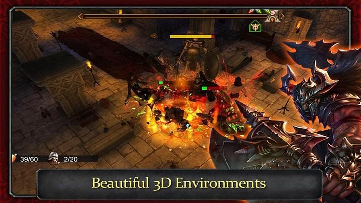 Игра Demonrock: War Of Ages для Android - трехмерная RPG-атака подземелий