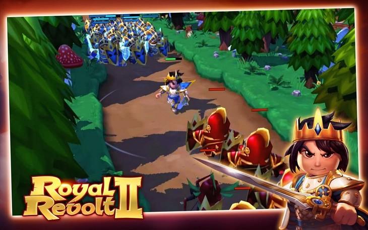 Игра Royal Revolt 2 для Android: многопользовательские битвы за трон