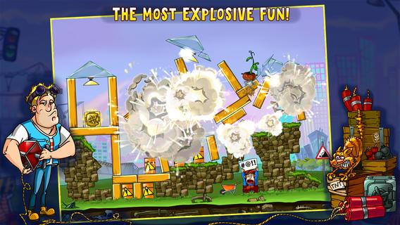 Бесплатная взрывная головоломка Demolition Crush  для iPhone и iPad