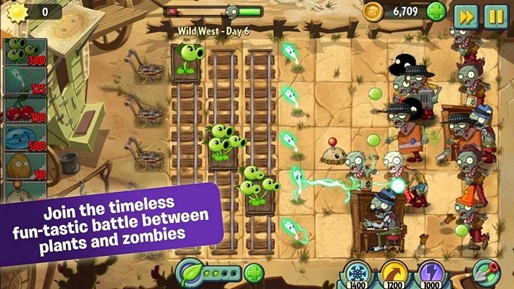 Бесплатная игра Plants vs. Zombies 2 для Android