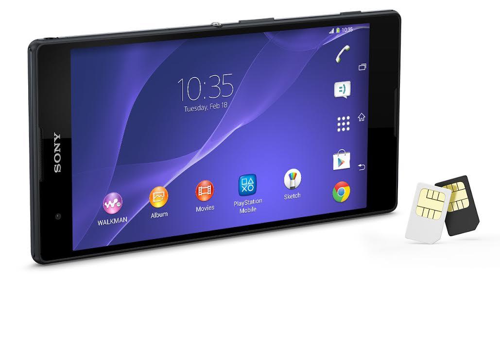 Планшетофон Xperia T2 Ultra Dual: 6-дюймовый экран и две SIM-карты
