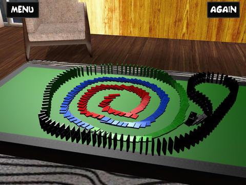 Обзоры игры DominoFX для iPad: эффект домино