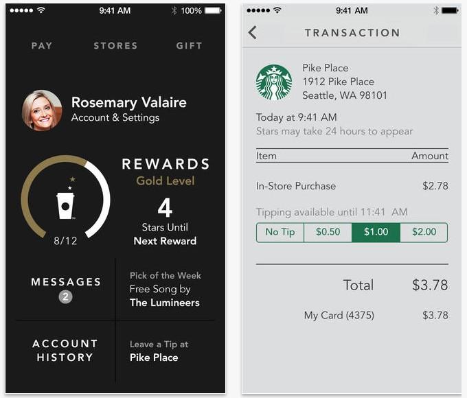 Приложение Starbucks для iPhone: цифровые чаевые и оплата по штрих-коду