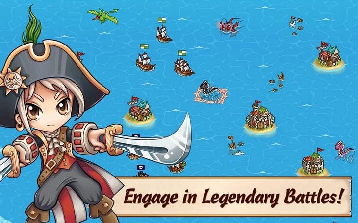Бесплатная игра Pirates of Everseas для Android: пиратская стратегия