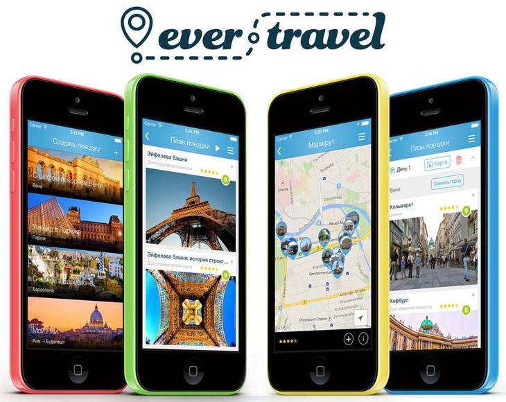 Бесплатный планировщик путешествий Ever.Travel для iPhone