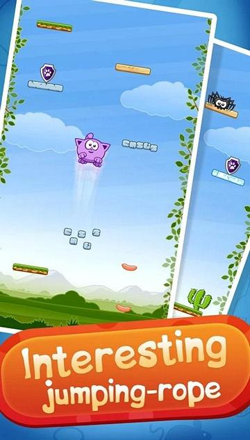 Бесплатная игра Kitty Jump для Android: Doodle Jump с мимимишным котиком