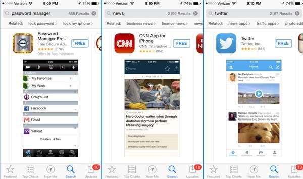 В App Store появятся связанные поисковые предложения