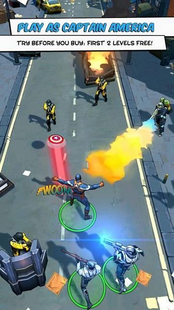 Бесплатная игра Первый мститель: Другая война для Android