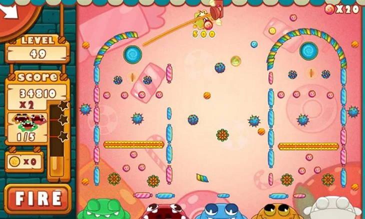 Бесплатная логическая игра Поймать конфеты для Android