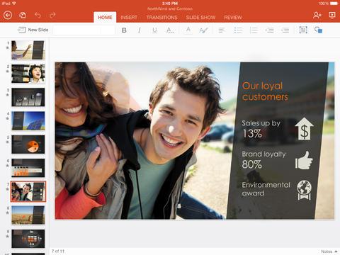 Word, Excel и PowerPoint для iPad: бесплатно в App Store