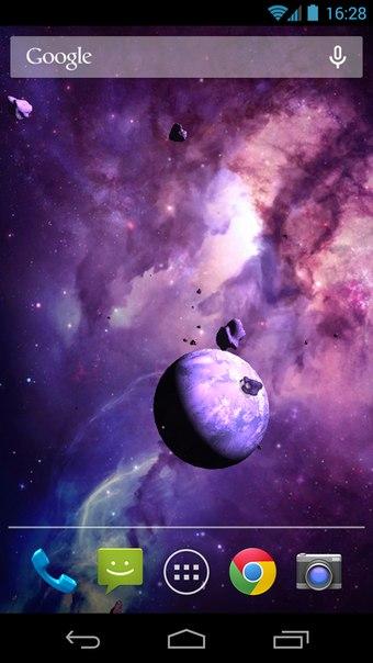 Бесплатные живые обои Asteroids 3D для Android