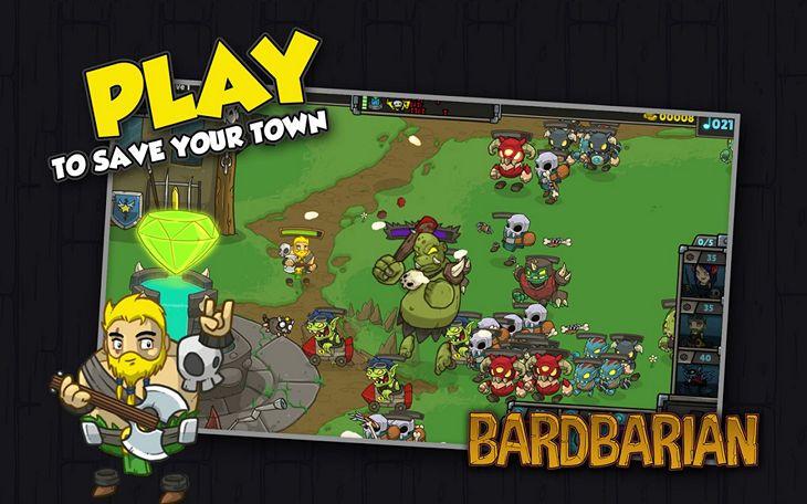 Бесплатная игра Bardbarian для Android