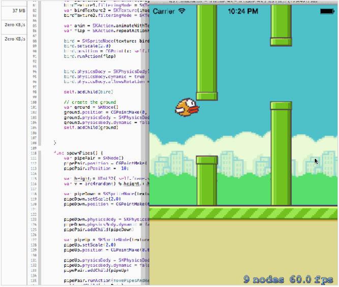 Разработчик клонировал Flappy Bird на Swift всего за несколько часов