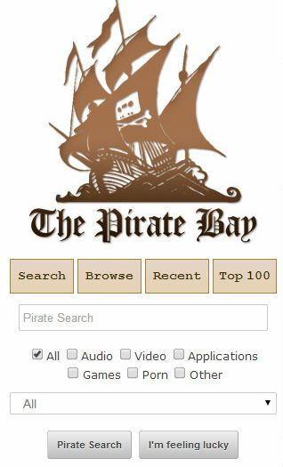 The Pirate Bay оптимизировался для смартфонов