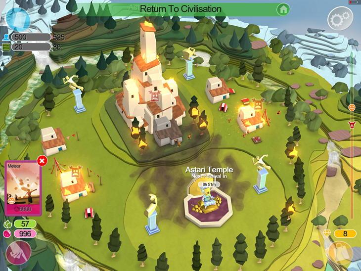 Обзор симулятора бога Godus для iPhone и iPad: кошмар веселого фермера