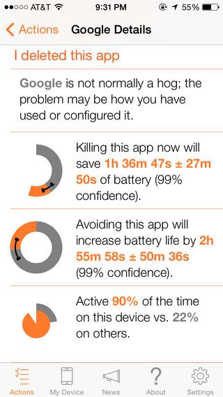 С приложением Normal ваш iPhone может проработать дольше