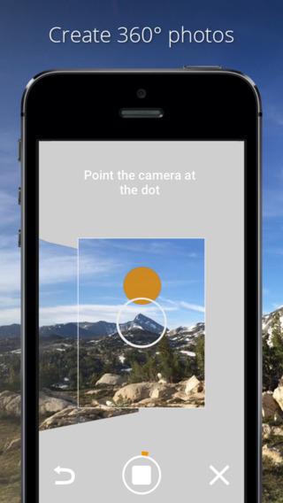 Круговые панорамы Google Photo Sphere Camera для iPhone