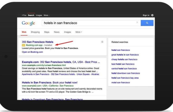 Реклама мобильных приложений в поиске Google и на YouTube
